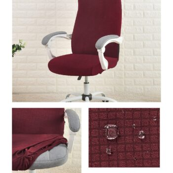 Water Resistant Jacquard Computer Chair Cover 13 Chair And Sofa Covers